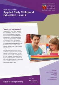 Level 7 Ba Applied Early Childhood Education And Care 2018 Wexford